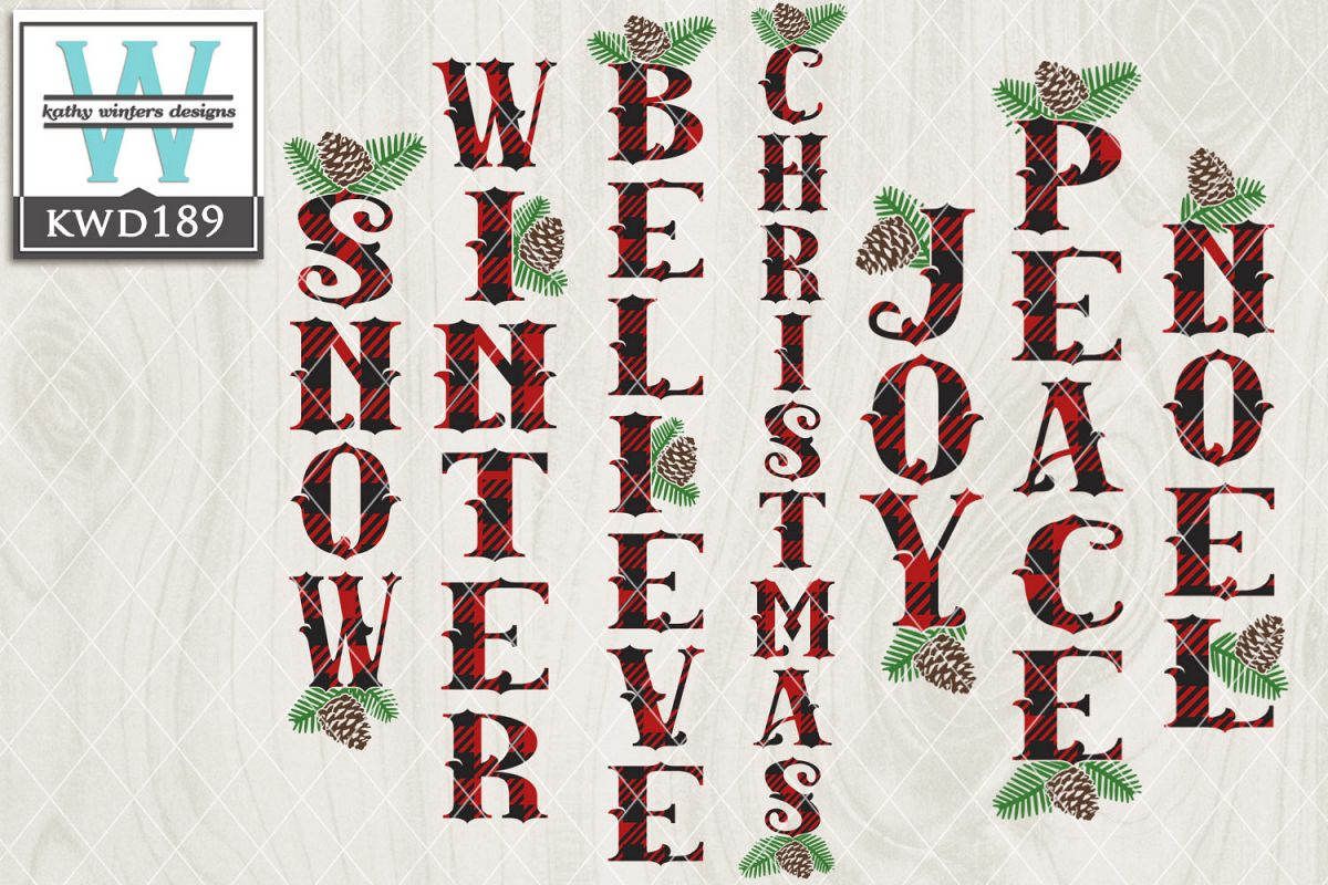 Christmas SVG - Vertical Buffalo Plaid example image 1