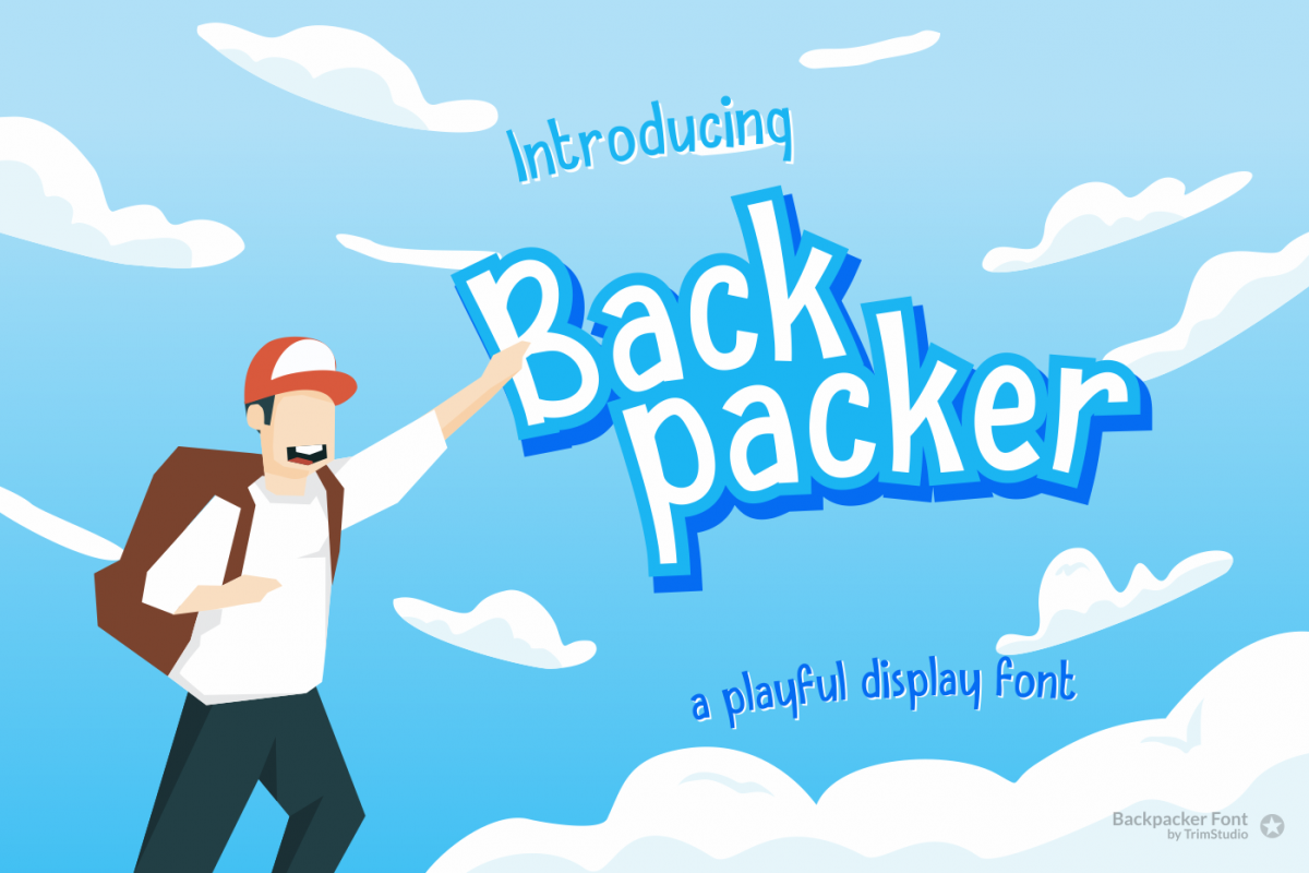 Backpacker - Fun Display Font example image 1