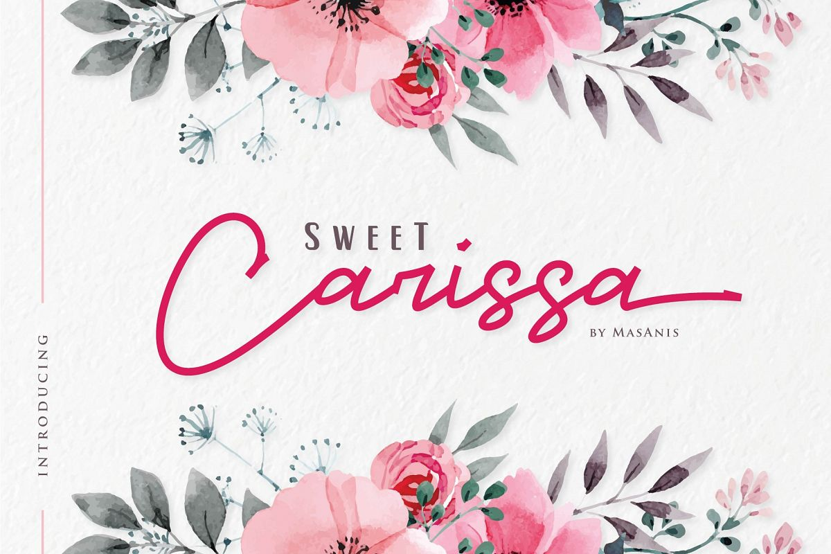 Sweet Carissa - Font Duo example image 1