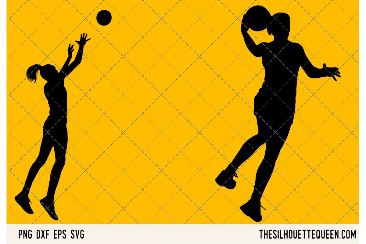 Netball Women SVG example image 1