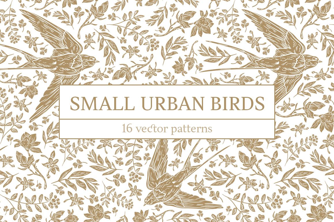 Small Urban Birds patterns example image 1