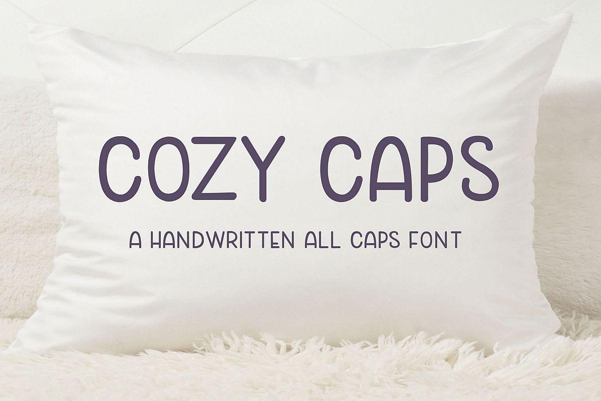Cozy Caps - A handwritten all caps font example image 1