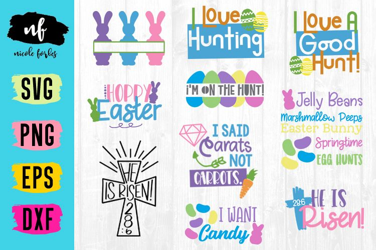 Easter Bundle SVG Craft Bundle example image 1