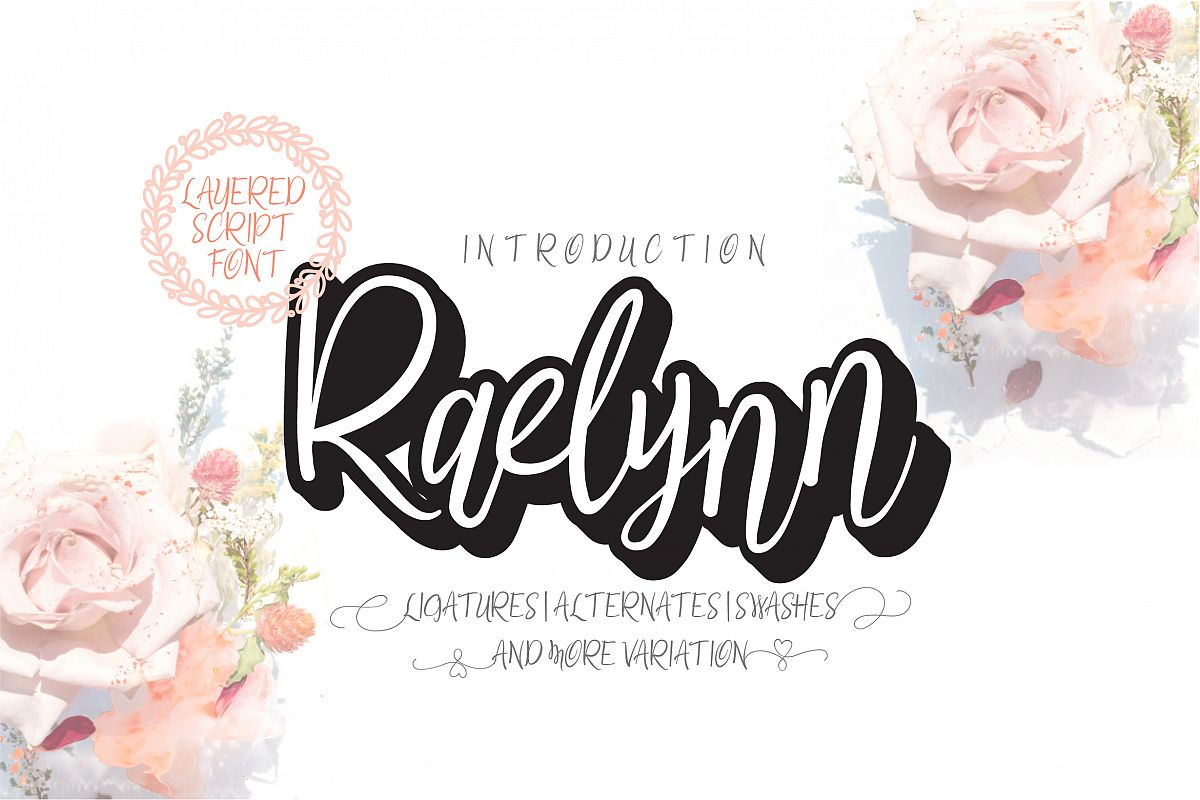 Raelynn Regular | modern script layered example image 1