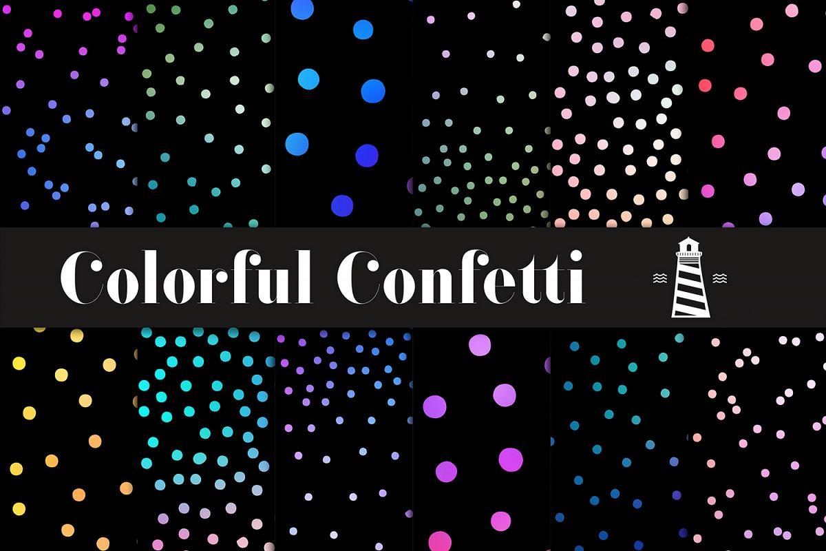 Gradient Confetti Overlays example image 1
