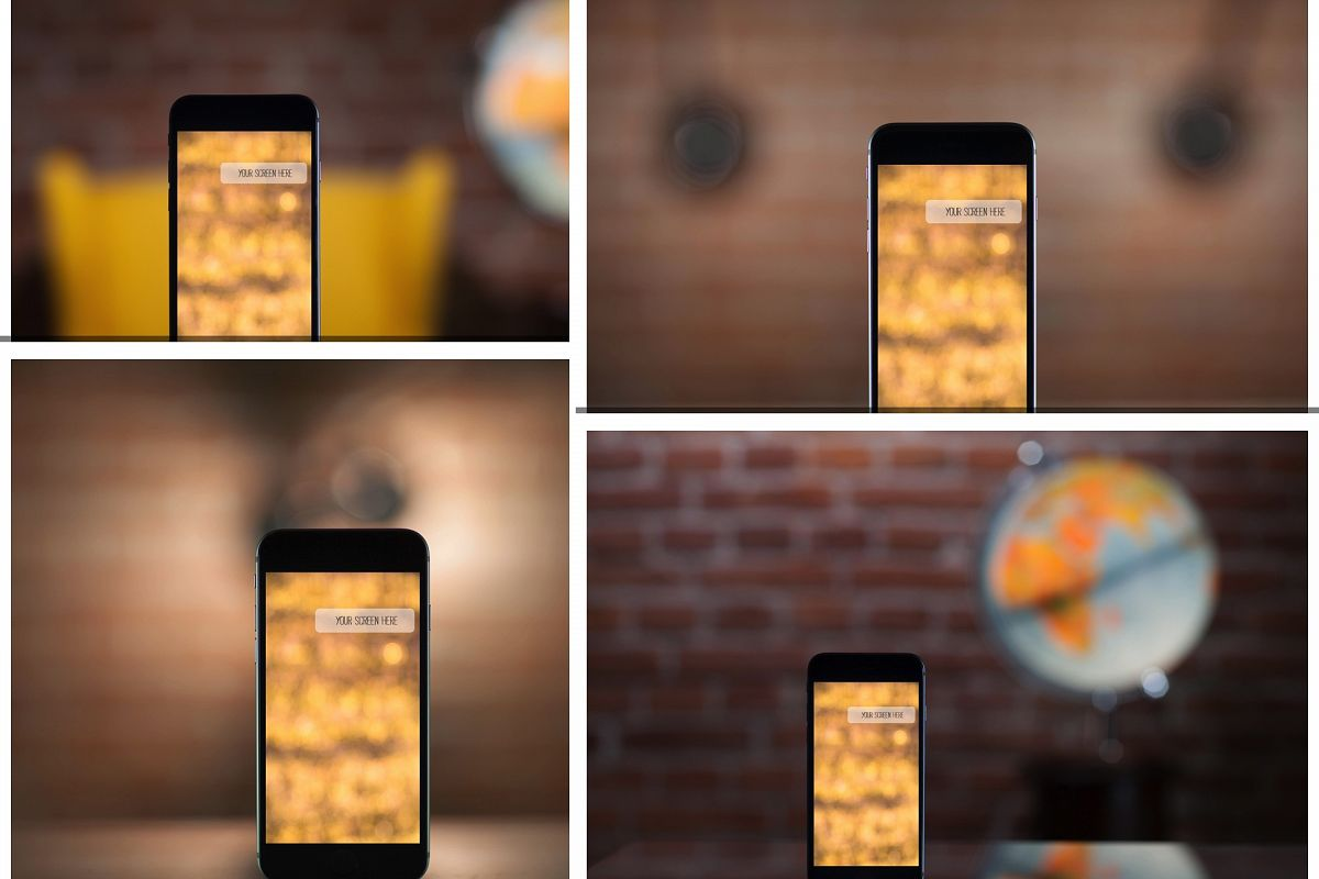 Set from 4 iPhone mockups example image 1