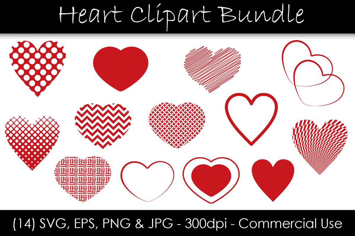 Heart SVG Bundle - Heart Shape Clip Art example image 1