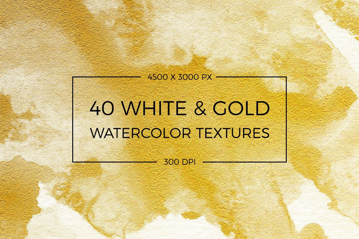 Watercolor Textures White and Gold example image 1