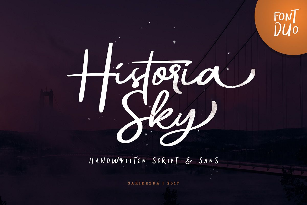 Historia Sky - Font Duo example image 1