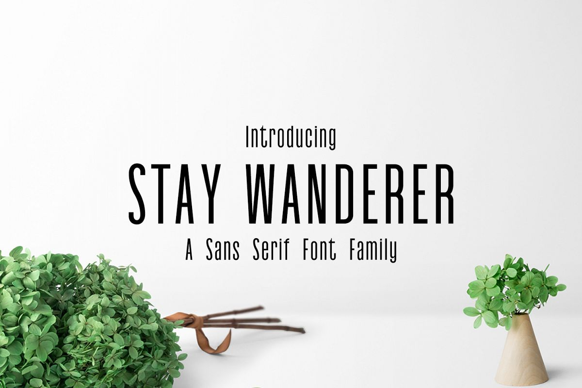 Stay Wanderer 3 Font Family Pack example image 1