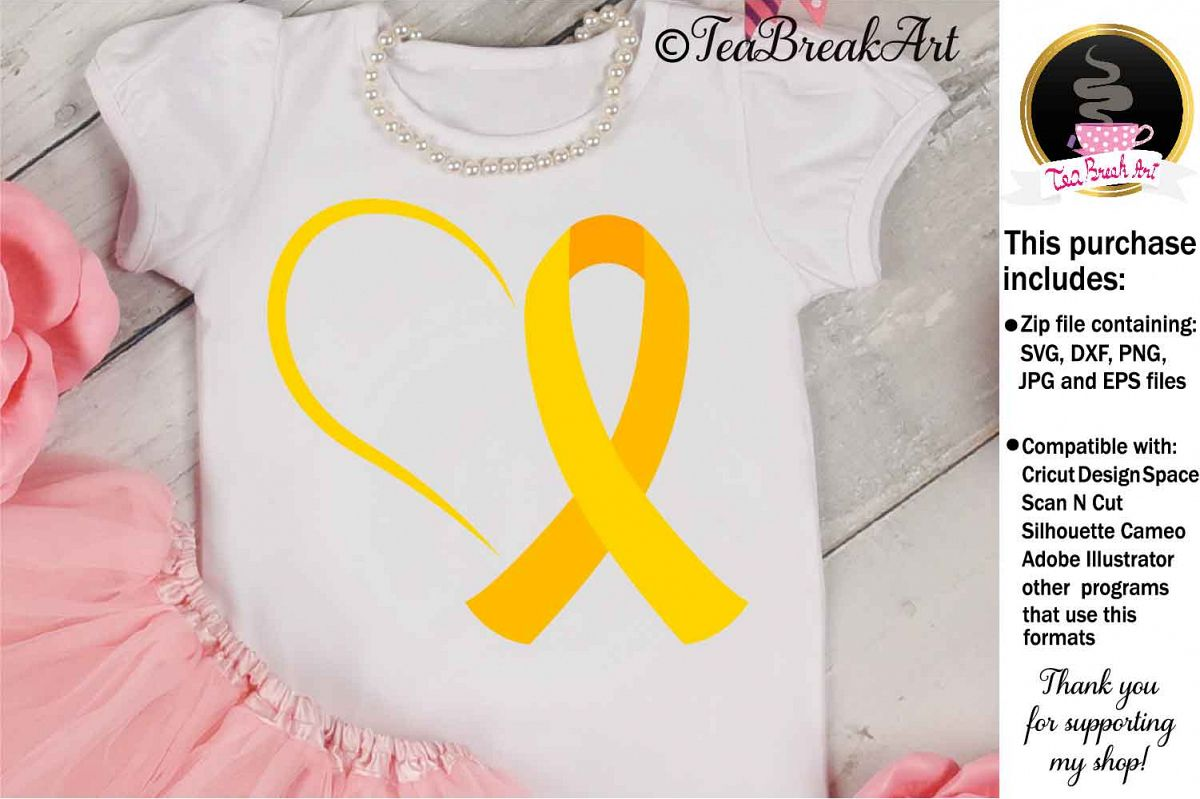 Childhood Cancer Awareness Cutting Files 1078 example image 1