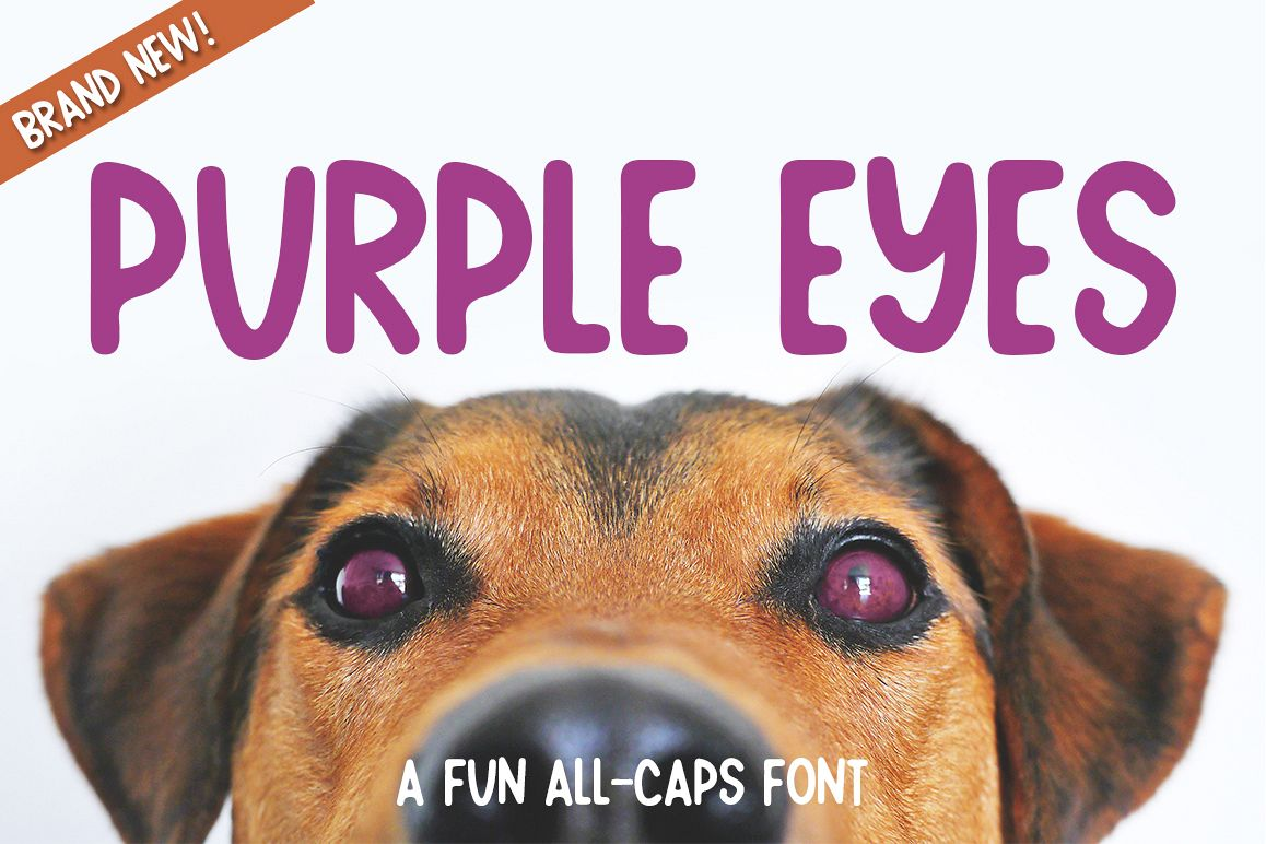 Purple Eyes - a fun chunky font example image 1