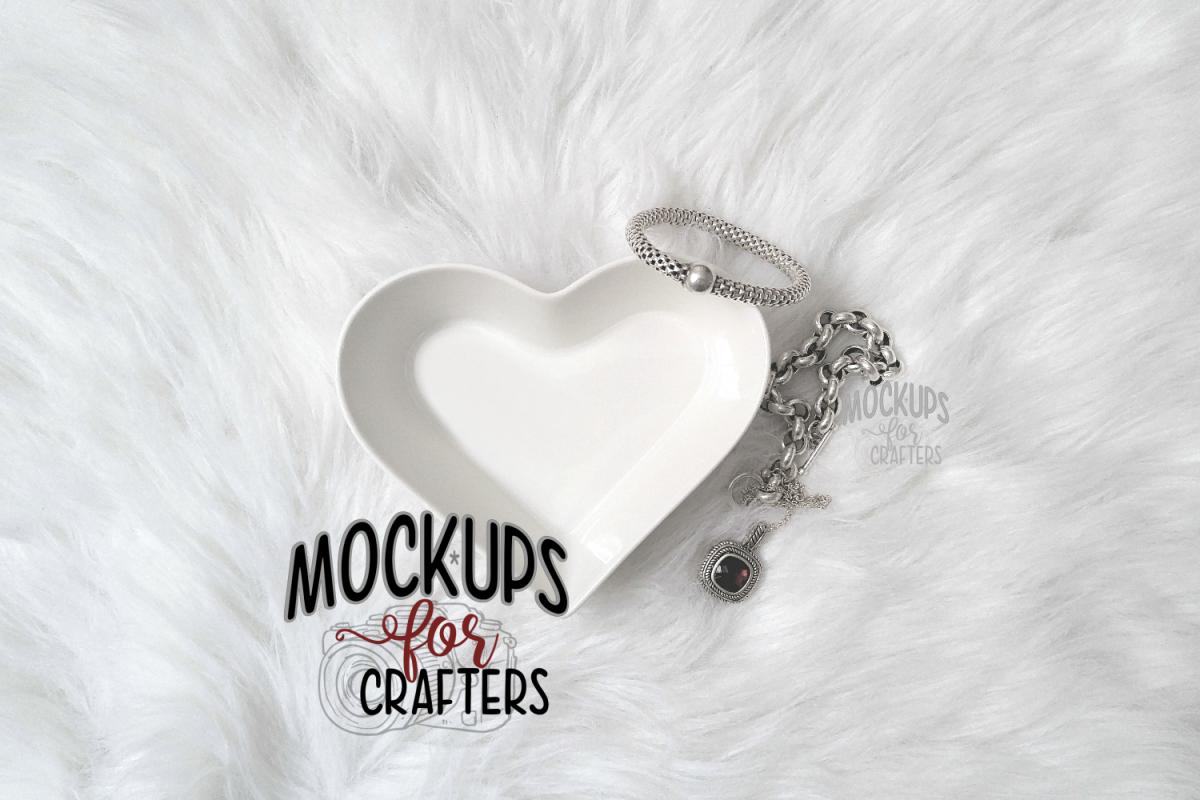 Ring / Jewelry Dish - Heart Shaped - Dollarama MOCK-UP example image 1