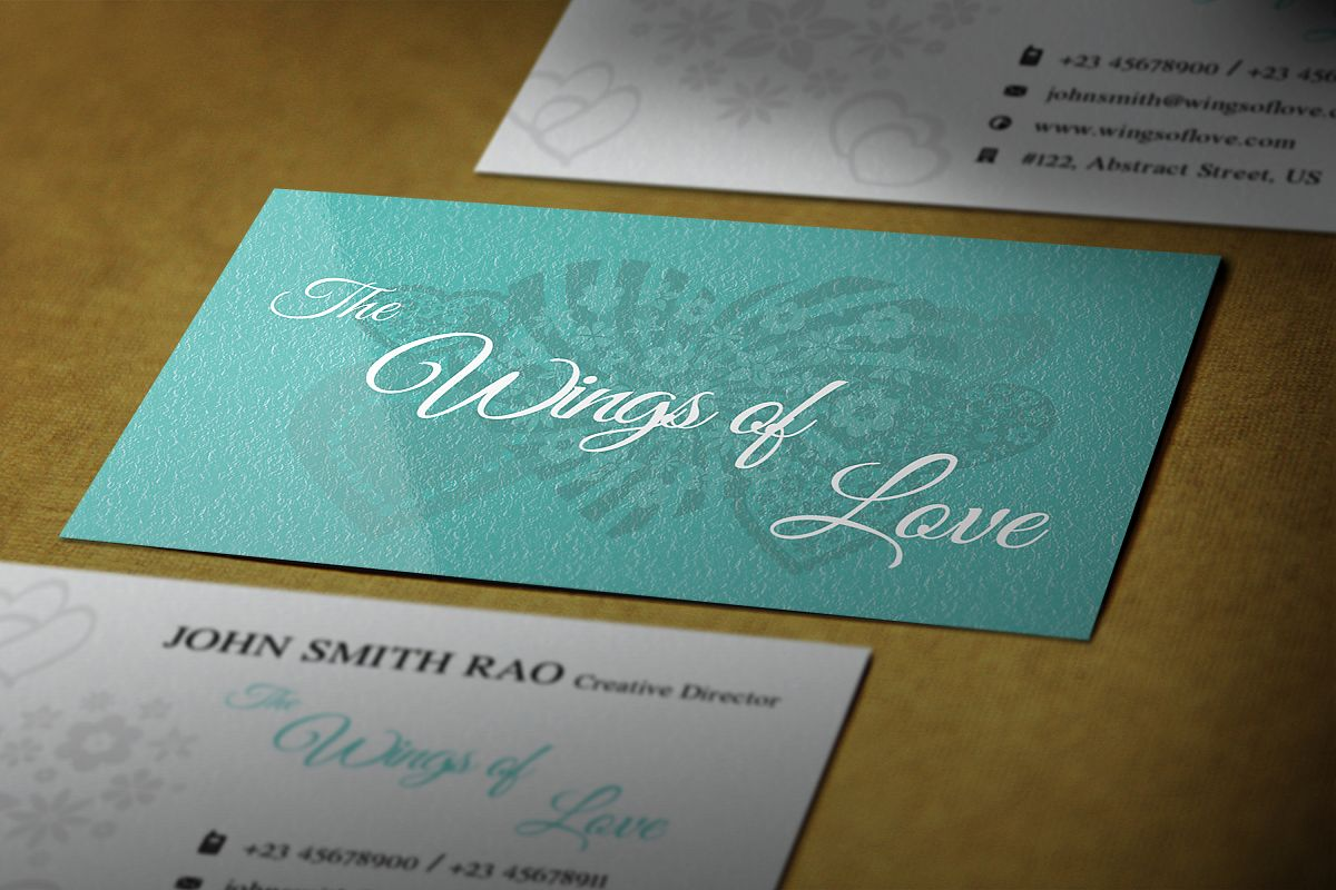 Elegant wedding photographer Business cards example image 1