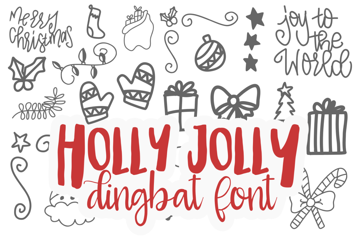 Holly Jolly Dingbat TTF example image 1
