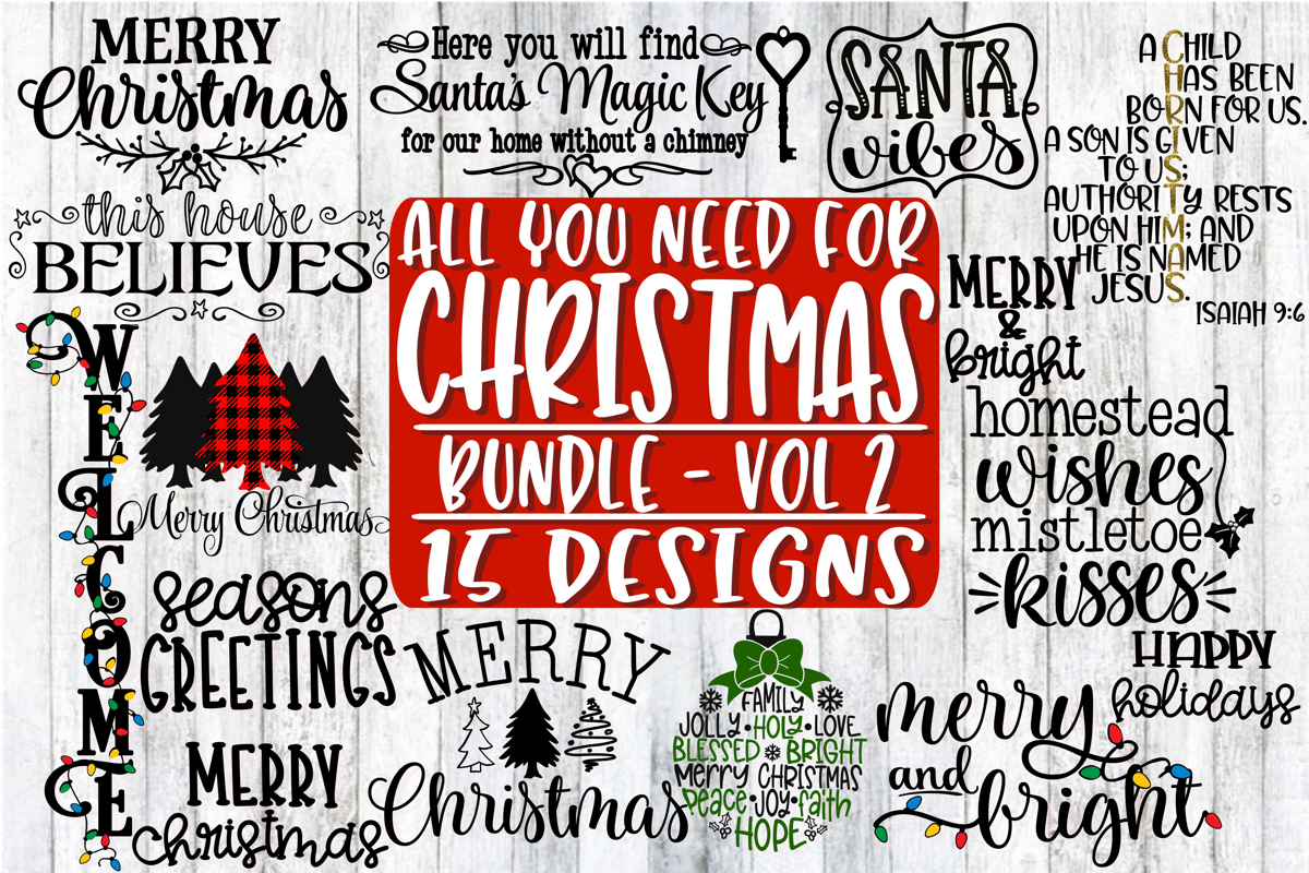 All You Need For Christmas Bundle - Vol 2 - 15 Designs example image 1