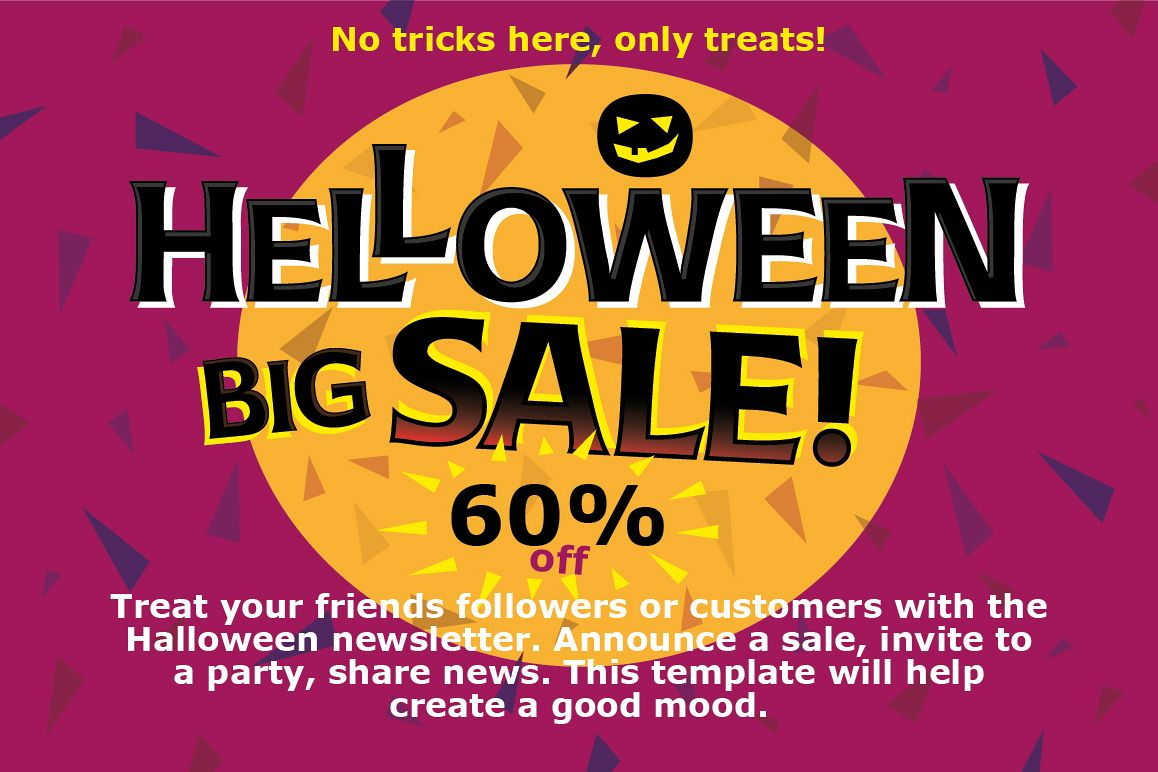 Poster with Halloween example image 1