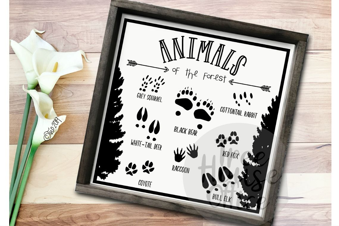 Animals of the Forest Woodland Nursery SVG DXF PNG JPEG example image 1