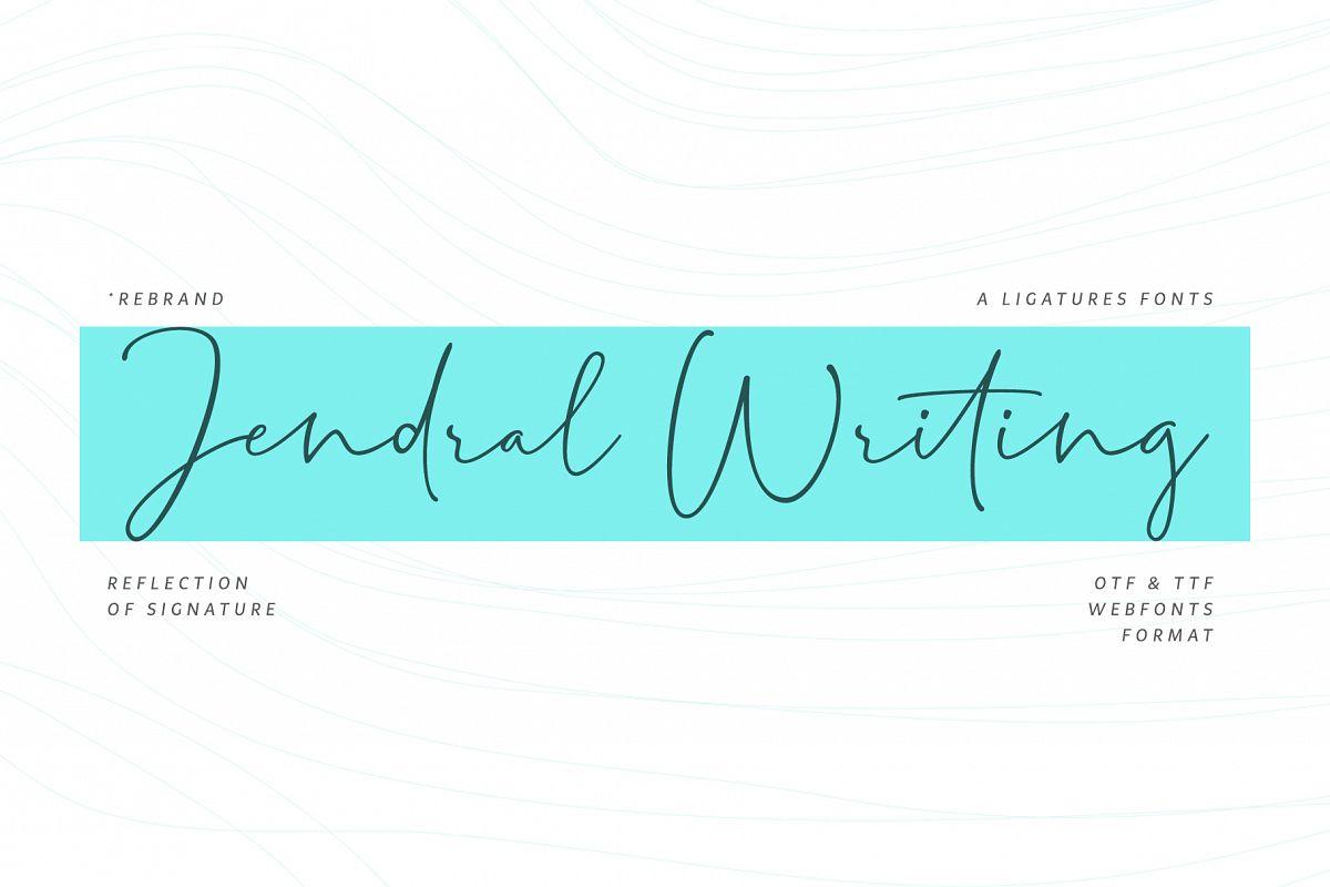 Jendral Writing Latin Pro example image 1