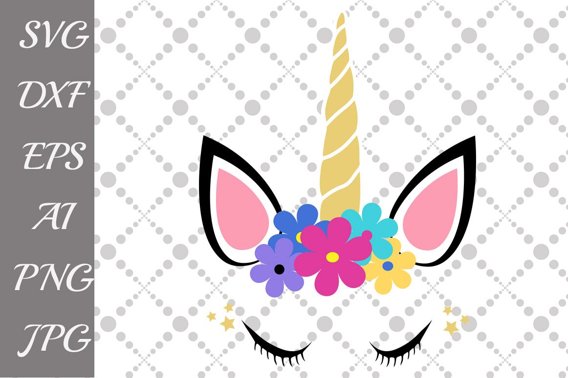 "Unicorn Svg: ""UNICORN HEAD SVG"" example image 1"
