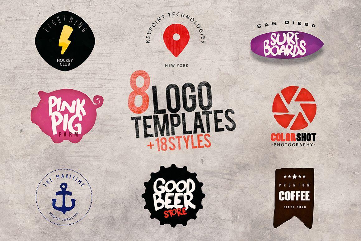 8 Logo Templates + Extras example image 1