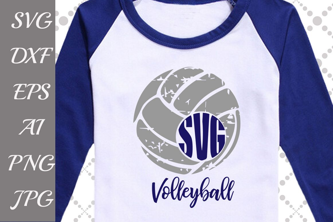 VOLLEYBALL MONOGRAM SVG example image 1