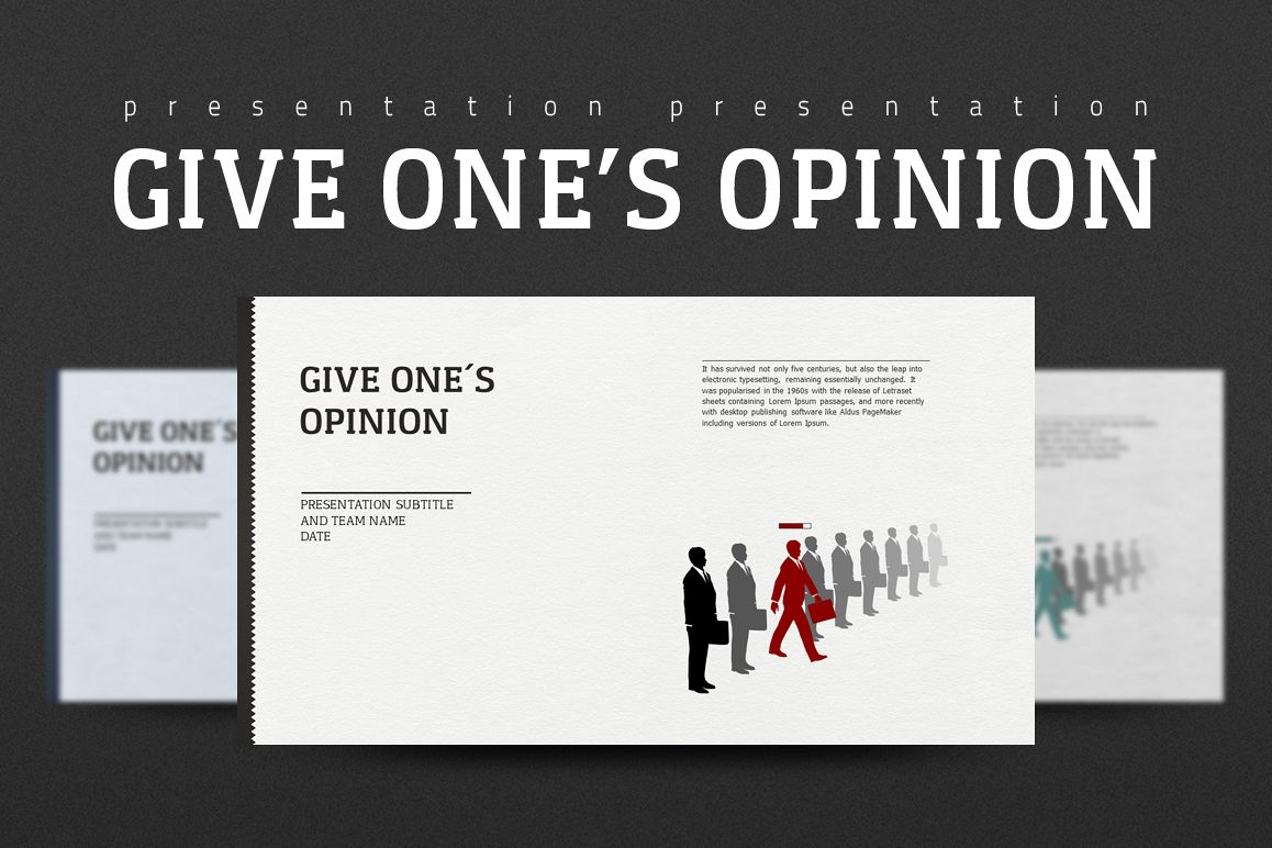 Opinion PPT example image 1
