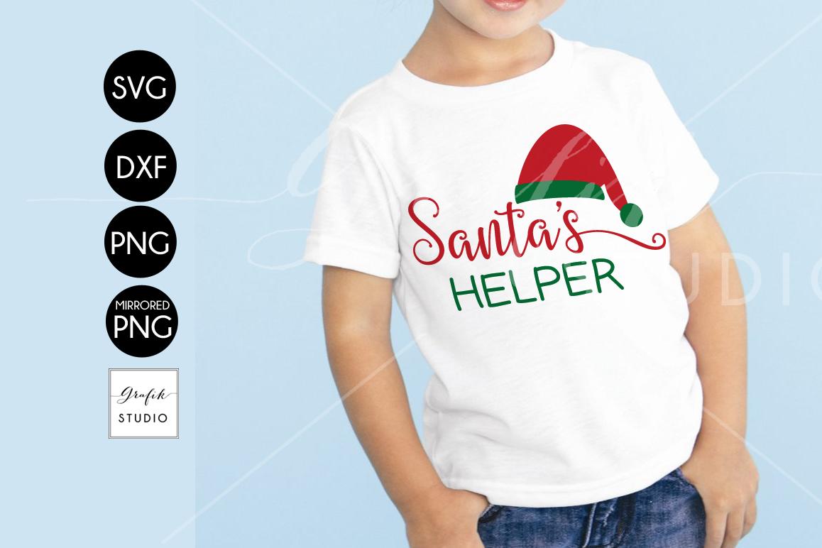 Santa's Helper CHRISTMAS SVG File, DXF file, PNG file example image 1