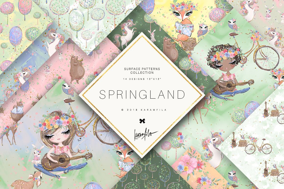 Spring Woodland Patterns example image 1