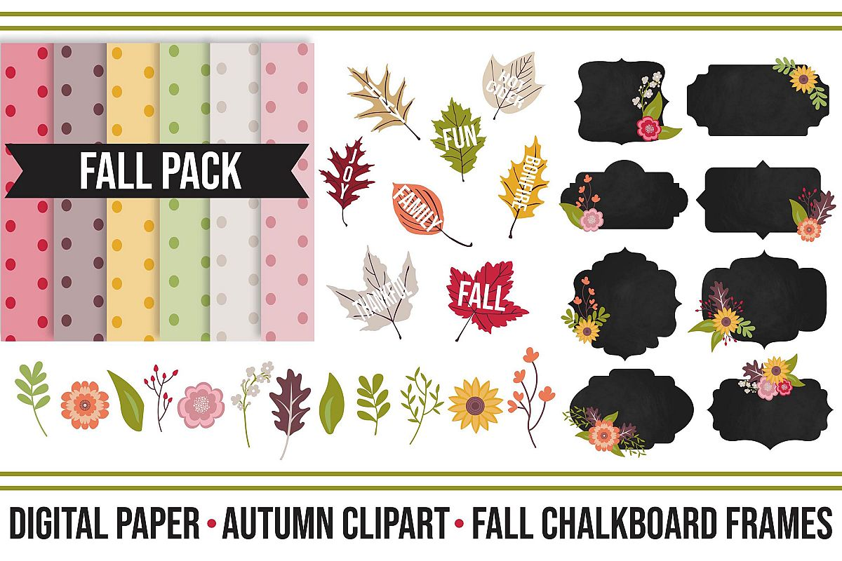 Fall Festive Digital Clipart Pack example image 1