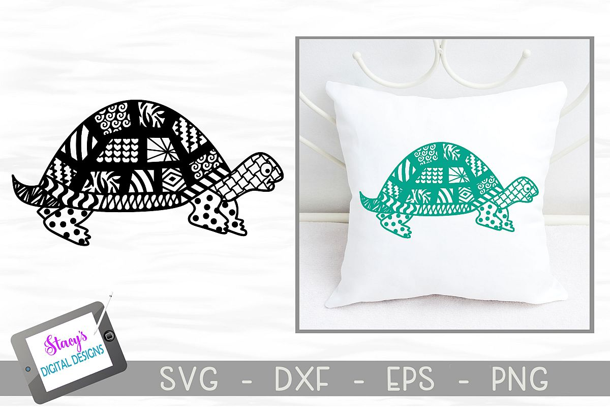Turtle SVG with Doodle patterns example image 1