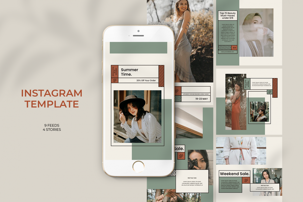 Fashion Instagram Templates example image 1