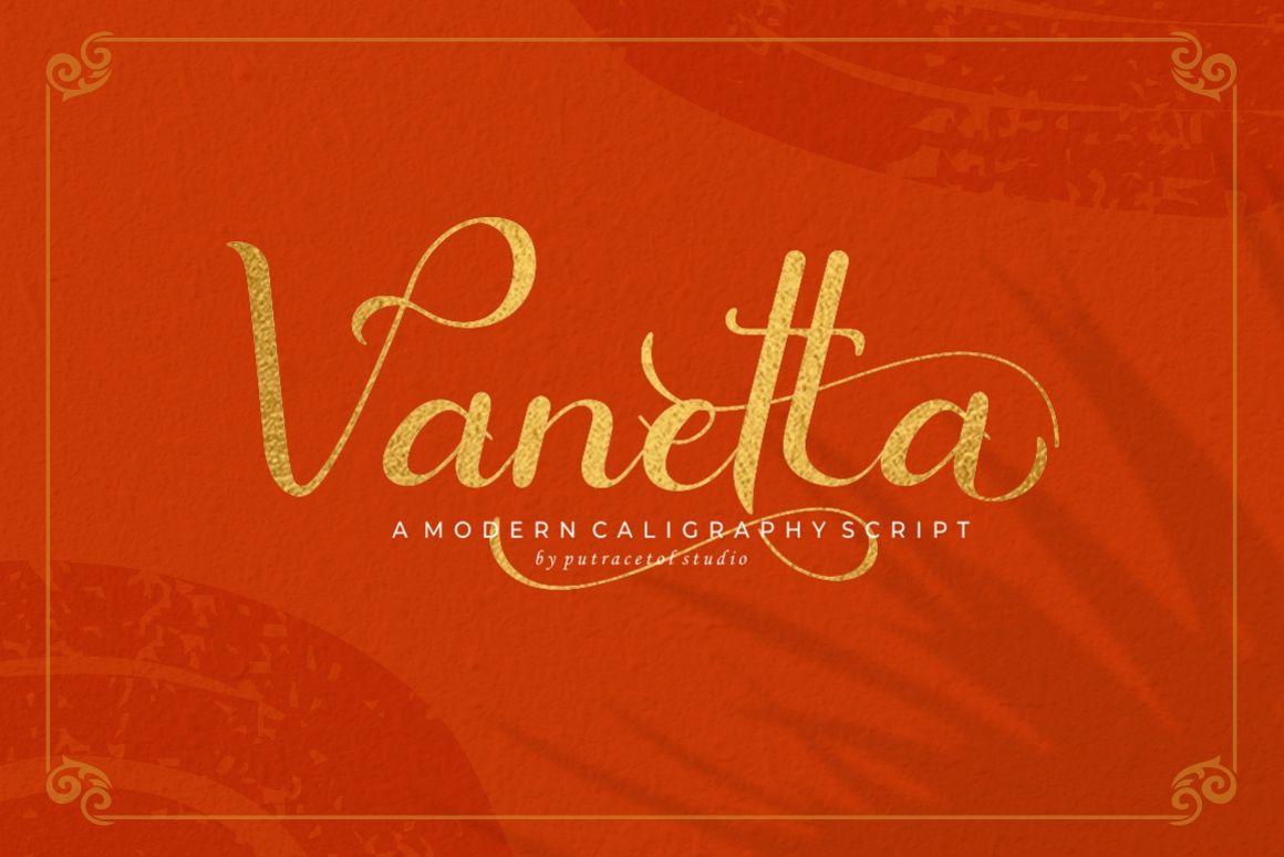 Vanetta Script example image 1