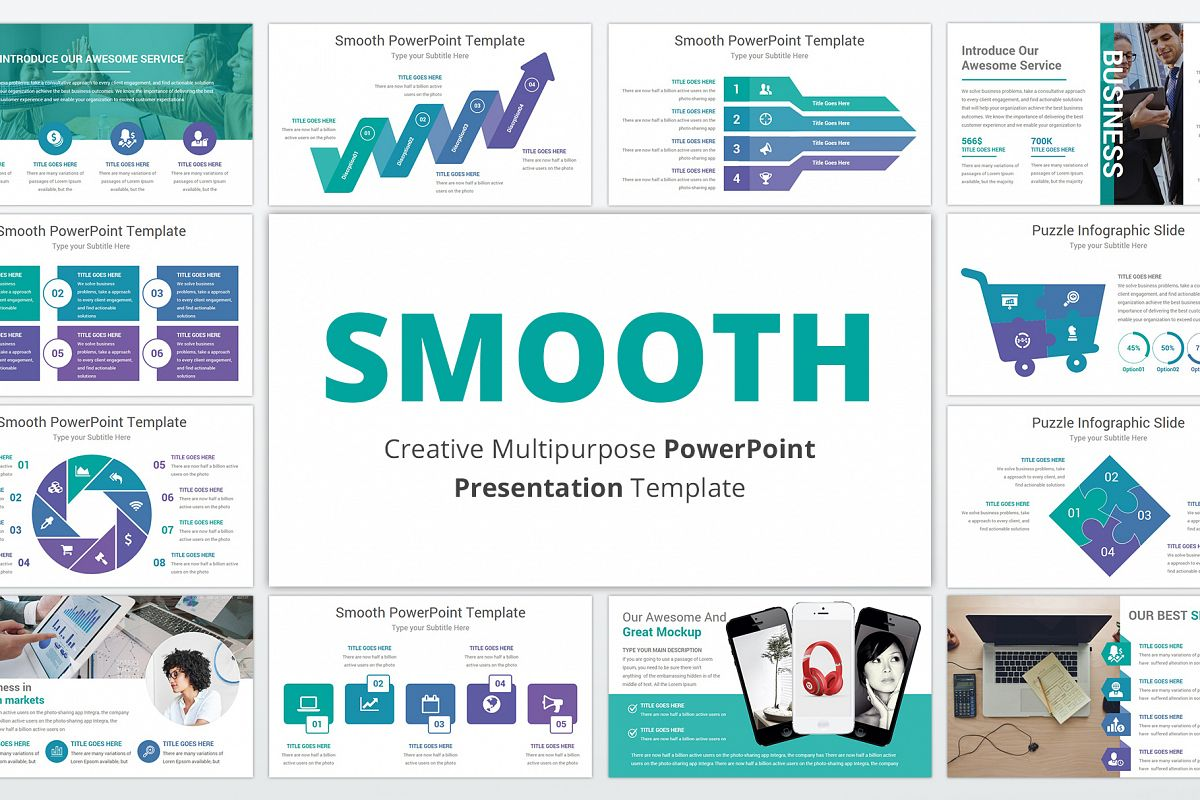 Smooth multipurpose PowerPoint Presentation Template example image 1