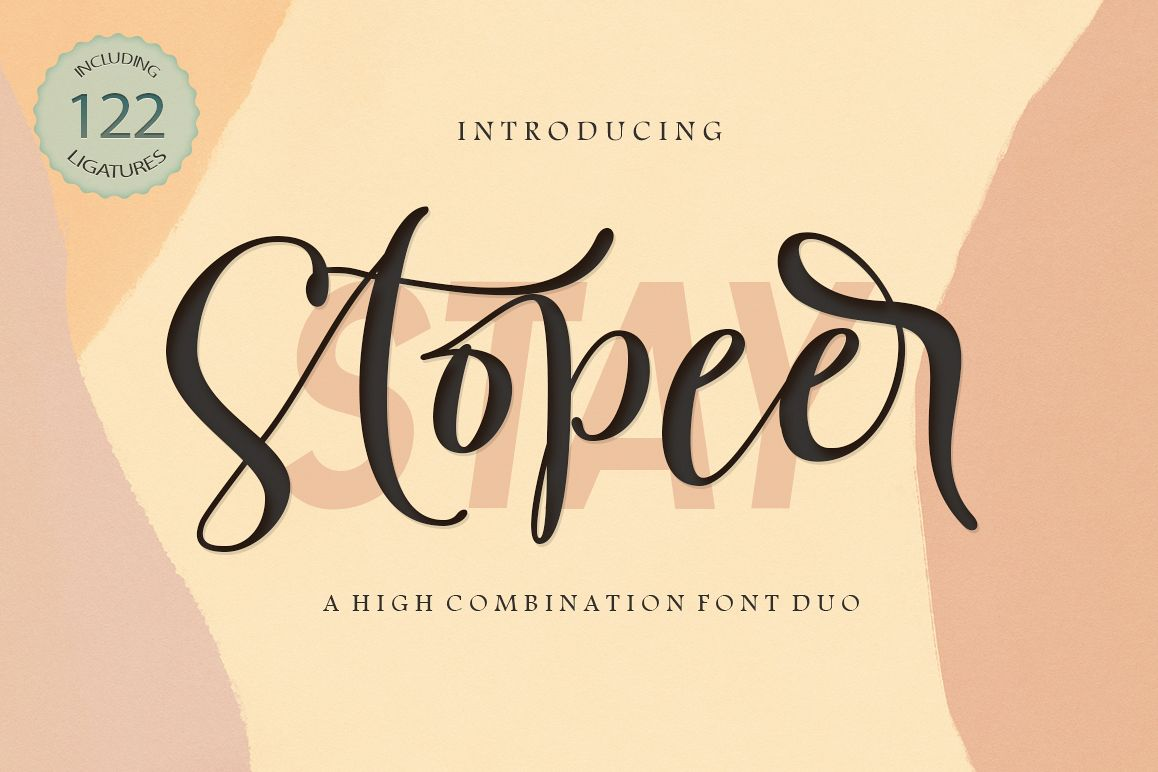Stay Stopeer | Font Duo example image 1