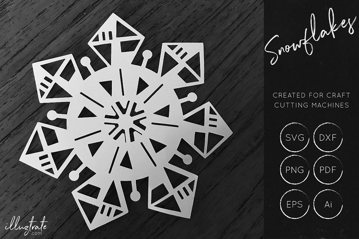 Snowflake SVG Cut File - Christmas SVG - Snowflakes example image 1