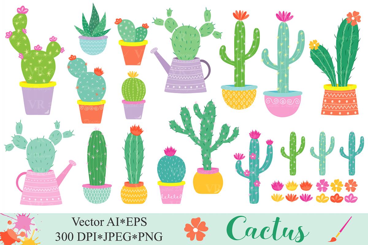 Plant cactus. Clipart cacti plants clip