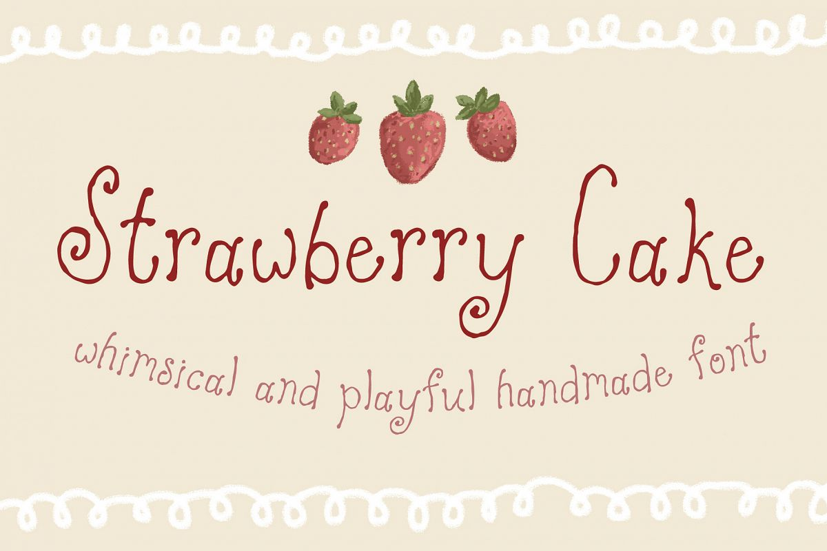 Strawberry Cake Whimsical Font example image 1