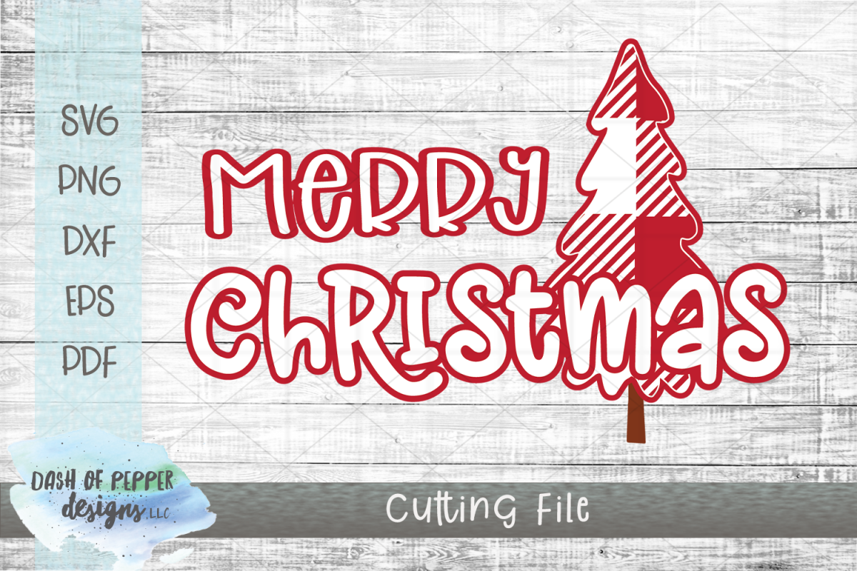 Merry Christmas SVG - A Christmas SVG with Plaid Tree example image 1