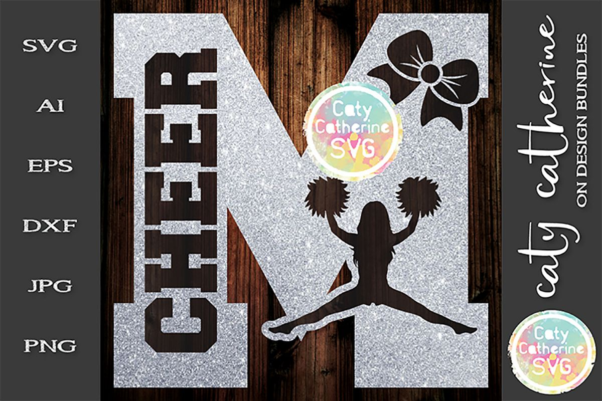 Letter M Cheerleading Monogram Letters SVG Cut File example image 1