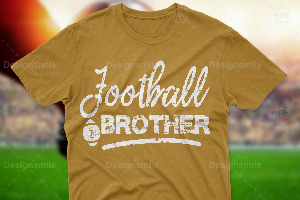 Football Brother SVG DXF PNG EPS Cutting Files example image 1