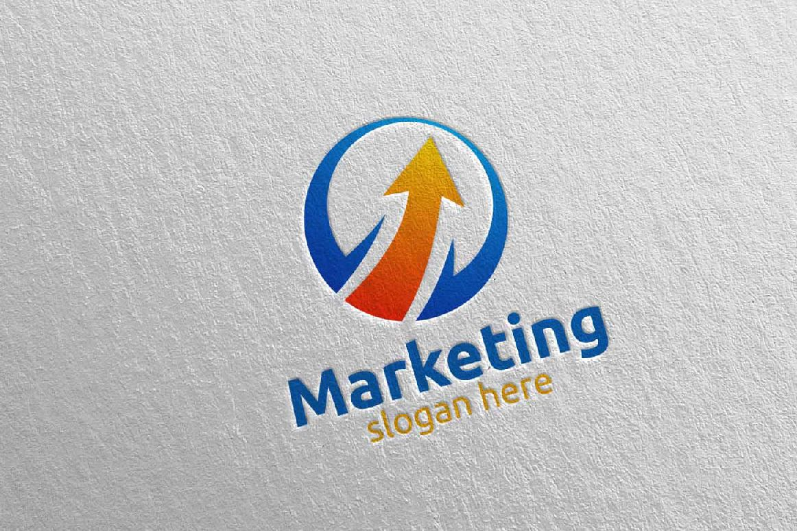Marketing Financial Advisor Logo Design 28 example image 1