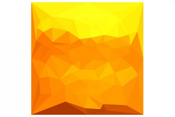 Cyber Yellow Abstract Low Polygon Background example image 1