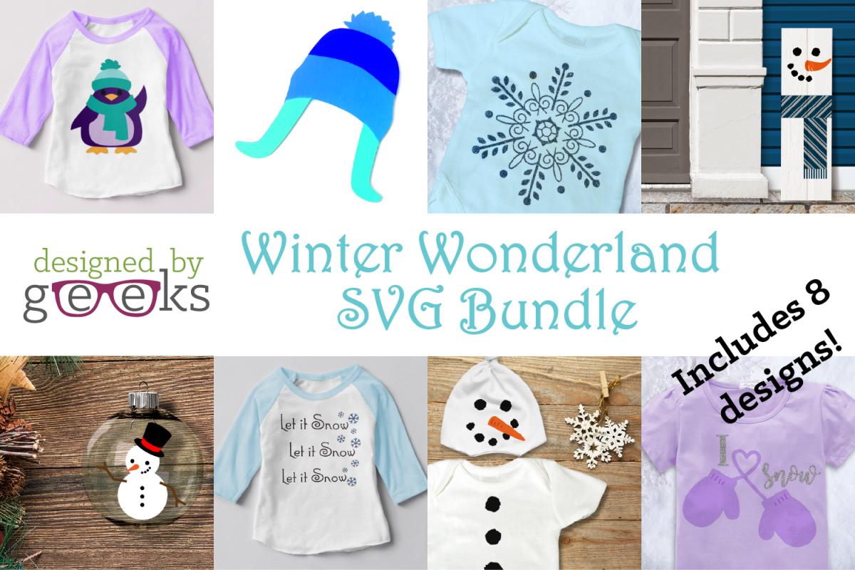 Winter Wonderland SVG Design Bundle example image 1
