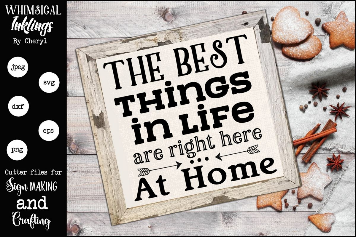 Right Here At Home SVG example image 1