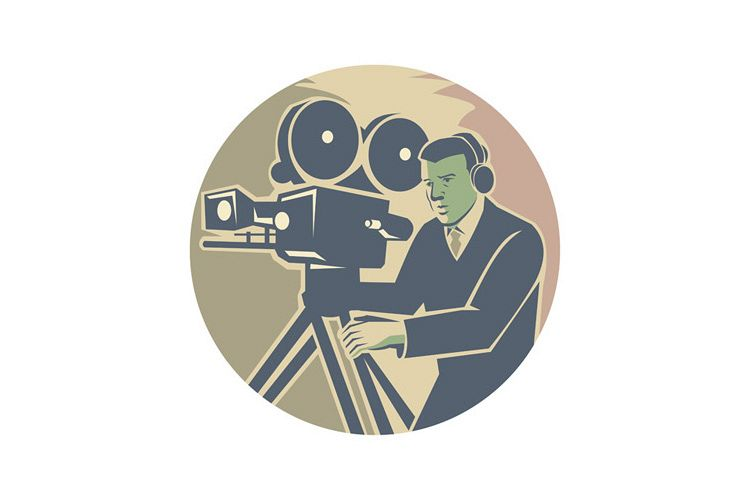 Cameraman Moviemaker Vintage Camera Retro example image 1
