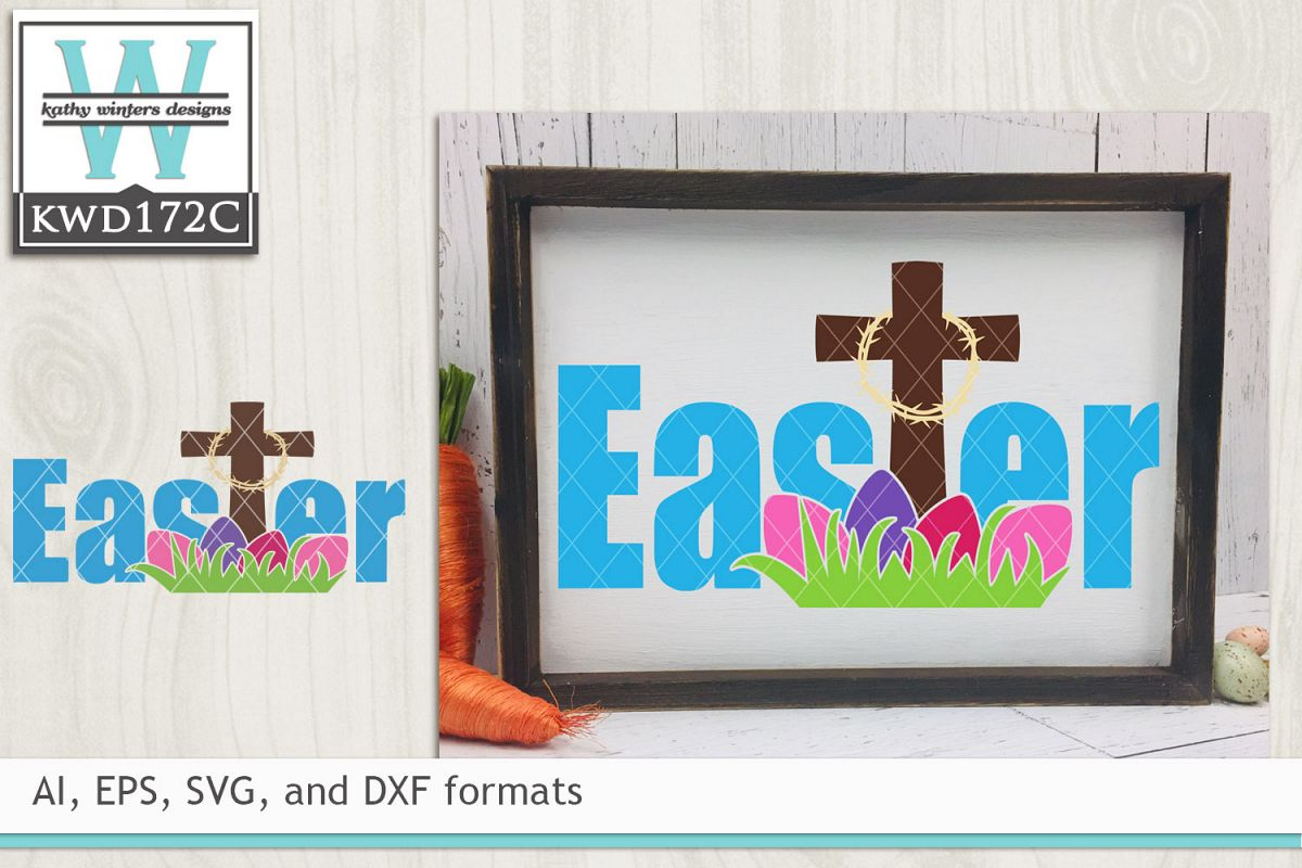 Easter SVG - Easter Cross example image 1