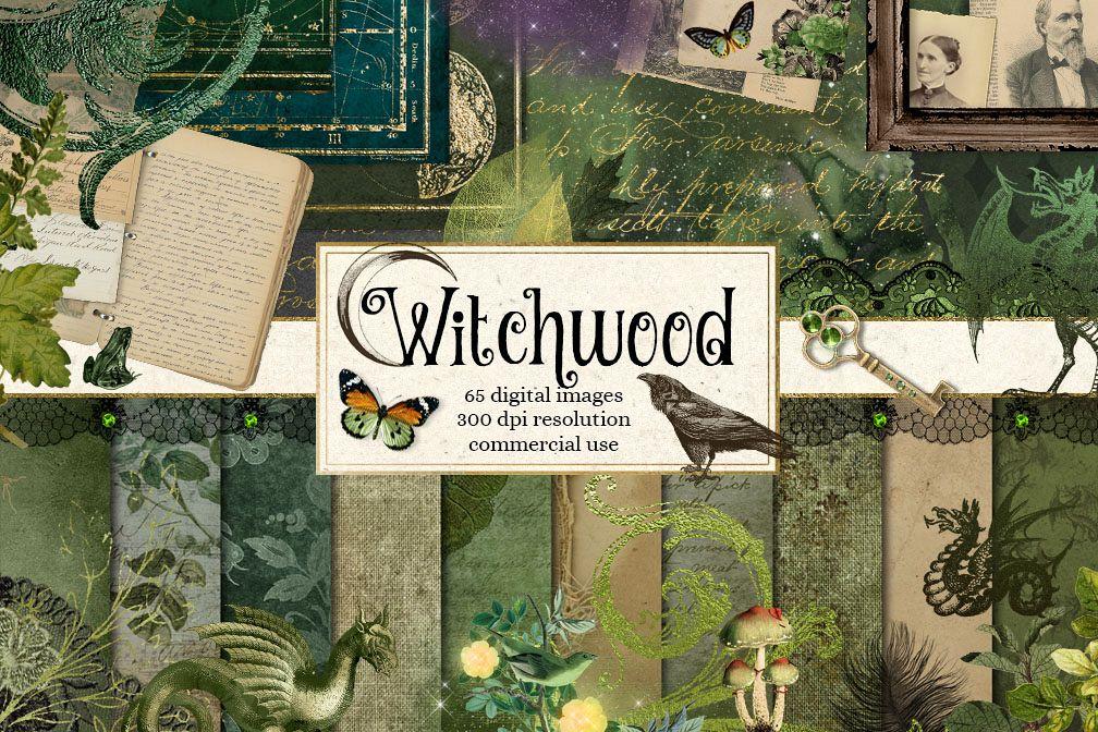 Witchwood Digital Scrapbooking Kit example image 1