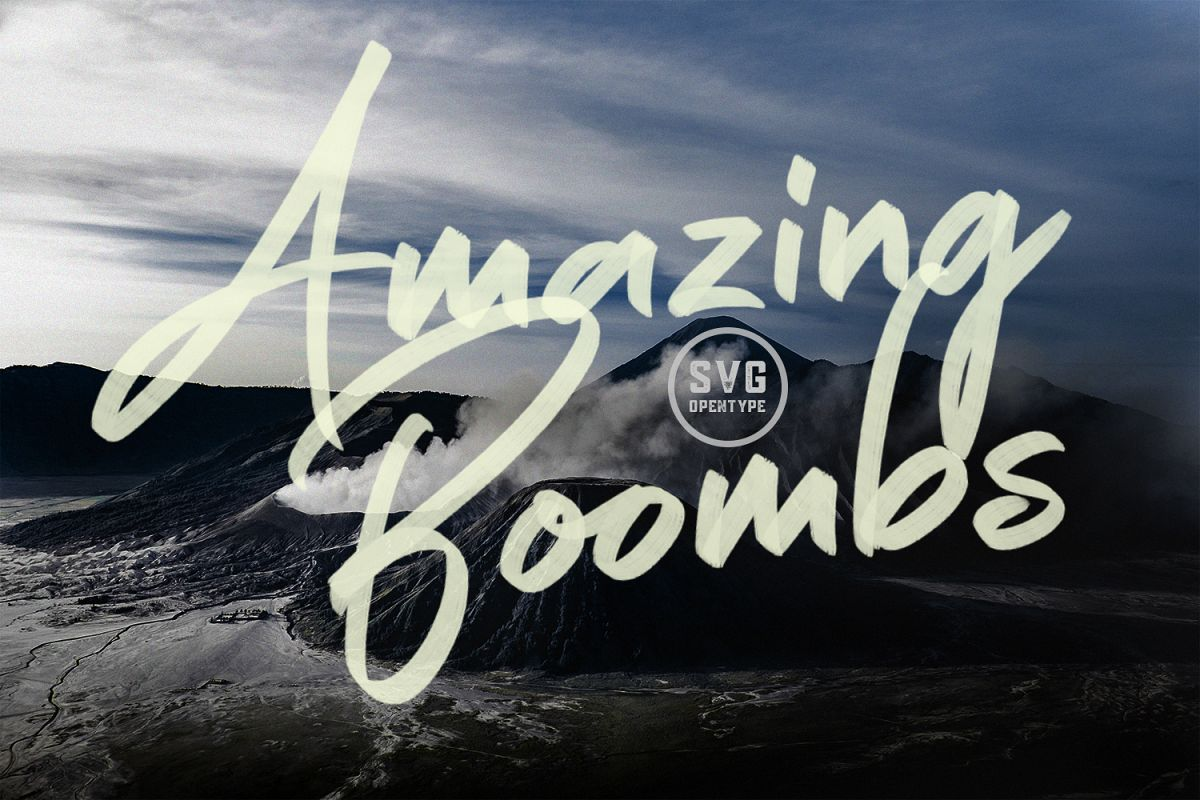 Amazing Boombs SVG Font example image 1