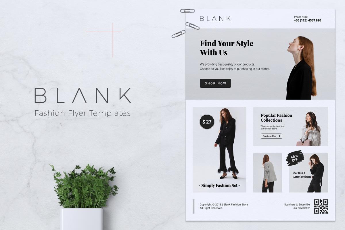 BALNK Minimal Fashion Flyer example image 1